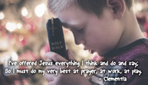 Everything poem for young people about prayer