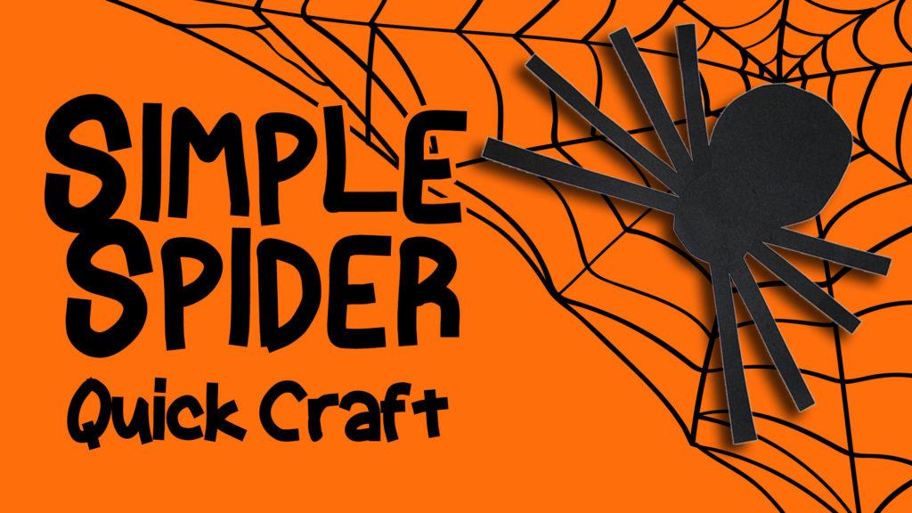 Preschool Craft - Simple Spider