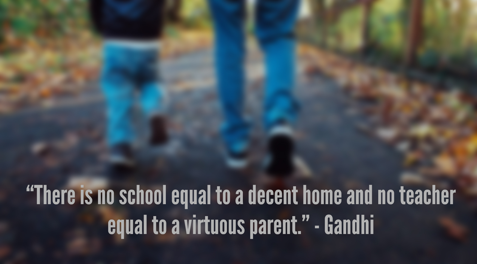 no school equal to a decent home